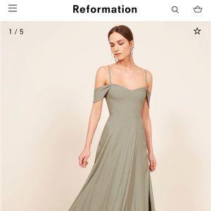 Reformation Poppy Dress Green size 6